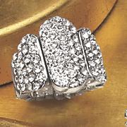crystal bar stetch ring