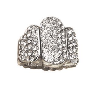 Crystal Bar Stetch Ring