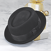 black porkpie hat