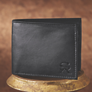 leather bifold wallet by stacy adams