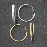 crystal sparkle hoops