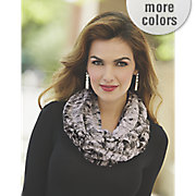faux fur eternity scarf