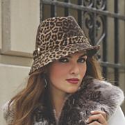 leopard print fedora by san diego hat company