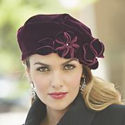 Velvet Floral Hat