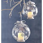 lit snowflake ornament