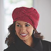 bow knit beanie