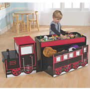 multi function train table and toy box
