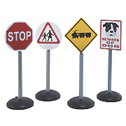 Toy Road Signs 4-Pack