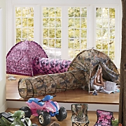 Kid's Camo Play Tent with Tunnel