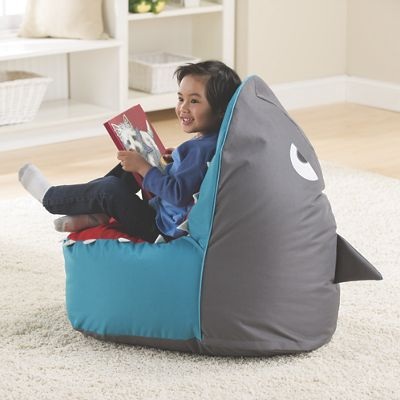 Kids Shark Bean Bag Chair from One Step Ahead – Personalized Bag Chairs