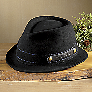 crushable wool felt fedora by woolrich