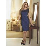 kirsta brocade panel dress by midnight velvet
