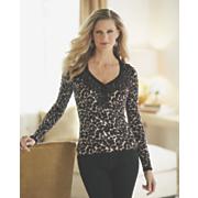 jewel trim animal sweater