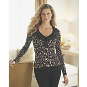 jewel trim animal sweater