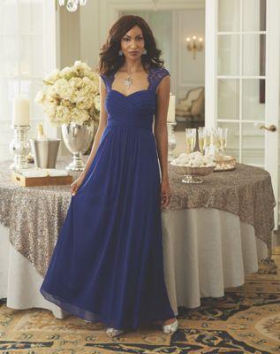 Brynne Lace Trim Gown