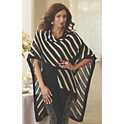 Stripe Sweater Cape