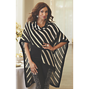 stripe sweater cape 28
