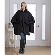 Zip-Front Cape and Gloves