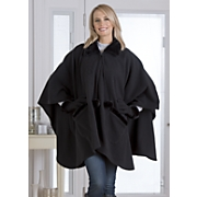 zip front cape and gloves