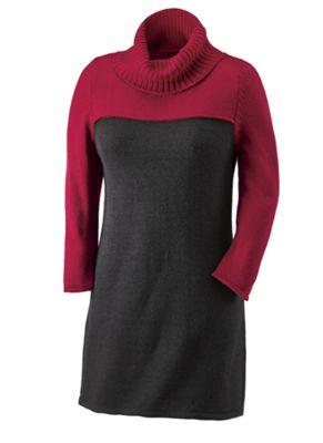 Essentials Colorblock Tunic Sweater