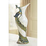 peacock capiz vase