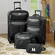 4 pc luggage set with personalized toiletry bag
