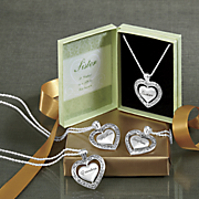 spinner heart necklace