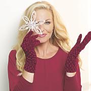 textured velvet gloves
