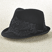 lace wool fedora