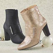 textured rhinestone bootie by monroe and main