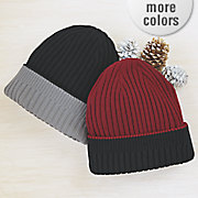 reversible ribbed hat