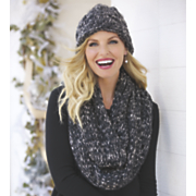 slouchy hat and eternity knit scarf