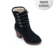 fold down heeled bootie by monroe and main