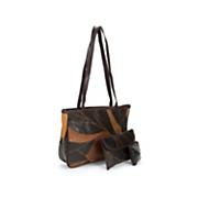 3 piece camille leather purse set