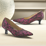 Lace Overlay Pump by Midnight Velvet