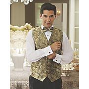 4 pc brocade vest set