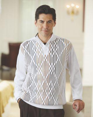 Button-Collar Sweater by Steve Harvey