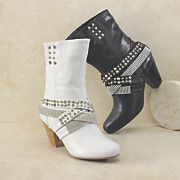 Bling Wraparound Bootie by Midnight Velvet