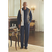 navy pant set by steve harvey
