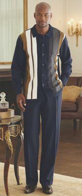 Navy Pant Set by Steve Harvey