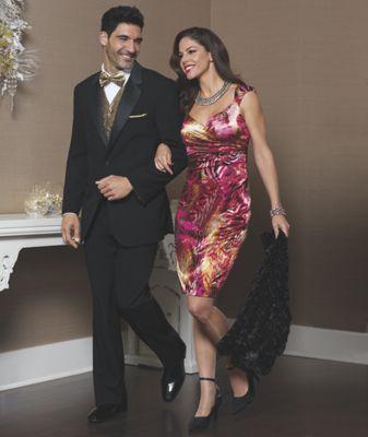 Shimmer Print Dress