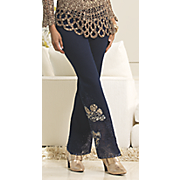 Beads and Sequins Embroidered Pant