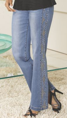 Glitter Leg Jean
