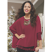 sheer poncho lace top