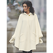 sherpa trim cape glove set