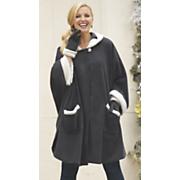 sherpa trim cape glove set