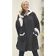 Sherpa Trim Cape & Glove Set