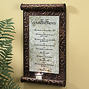 10 commandments candle plaque 19
