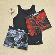 3 pack boxers and tank set by stacy adams