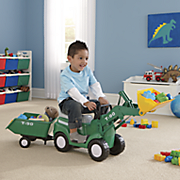 Kids Ride-On Tractor with Trailer